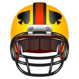Football helmet with ace of spades Royalty Free Stock Photo