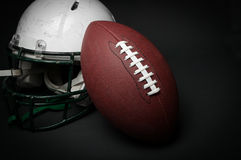 Football helmet and ball Royalty Free Stock Images