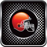 Football helmet on black web icon Stock Images