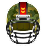 Football helmet with camouflage Royalty Free Stock Images