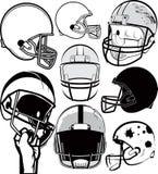 Football Helmet Collection Stock Photo