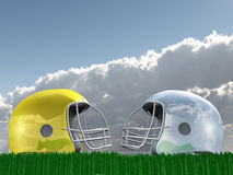 Football Helmet Composition Stock Photography