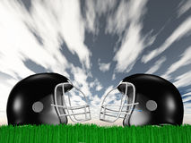 Football Helmet Composition Stock Images