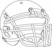Football Helmet. A  drawing of a football helmet Royalty Free Stock Photography