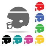 football helmet. Element of sport multi colored icon for mobile concept and web apps. Icon for website design and development, app royalty free illustration