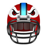 Football helmet with eyes Stock Photo