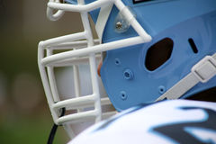 Football helmet and face mask  Stock Photos