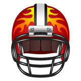 Football helmet with fire Royalty Free Stock Photo