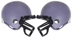 Football helmet five. Football helmet on a white background Stock Image