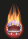 Football helmet with flame Stock Image