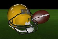 Football and helmet Royalty Free Stock Photos