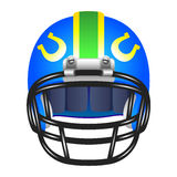 Football helmet with horseshoe Royalty Free Stock Images