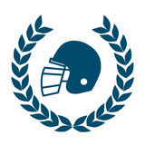 Football helmet icon Royalty Free Stock Photography