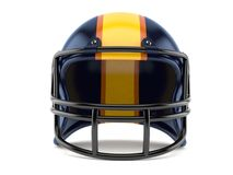 Football helmet. Isolated on white background Royalty Free Stock Images