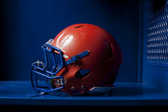 Football Helmet in Locker Royalty Free Stock Images