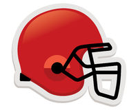 Football helmet in red color Royalty Free Stock Images