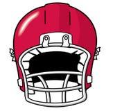 Football Helmet. Red team sport football helmet Royalty Free Stock Images