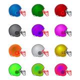 Football helmets Stock Images