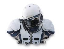 Football Helmet and shoulder Pads Royalty Free Stock Photography