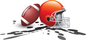 Football helmet splat Stock Images
