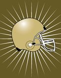 Football Helmet with Starburst Background!