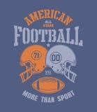 Football Helmet Stylized vector illustration Royalty Free Stock Photo