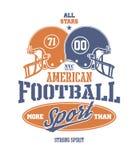 Football Helmet Stylized vector illustration Royalty Free Stock Photos