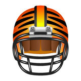 Football helmet with tiger stripes Stock Photography