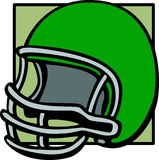football helmet vector illustration Stock Image