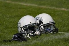 Football helmets Stock Photography