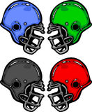 Football Helmets Cartoon Illustration Stock Photography