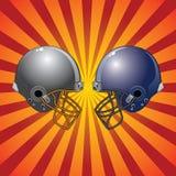 Football Helmets Colliding Royalty Free Stock Photography