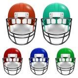 Football Helmets set Stock Photos