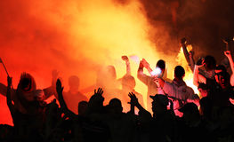 Football hooligans Royalty Free Stock Images