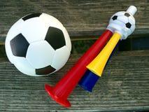 Football and hoot-bench Royalty Free Stock Photo
