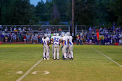 Football huddle Stock Image