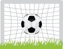 Football icon. Simple icon style illustration of football and goal Stock Photos