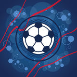 Football icon on blue background Royalty Free Stock Photography