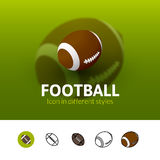 Football icon in different style Stock Image