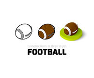 Football icon in different style Royalty Free Stock Images