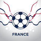 Football icon with France color ribbon vector Stock Image