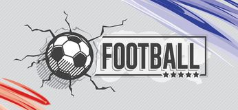 Football icon and grunge, watercolor background Royalty Free Stock Image