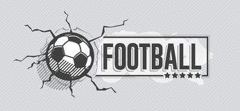 Football icon and grunge, watercolor background Stock Image