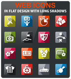 Football icon set. Football icons set in flat design with long shadow Stock Photo