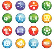 Football icon set. Football  icons for user interface design Royalty Free Stock Photos