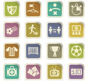 Football icon set. Football  icons for user interface design Royalty Free Stock Photo