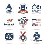 Football Icon Set - 2. Football-related quality set of icons that can be used Stock Photography