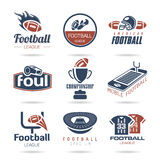 Football Icon Set - 3. Football-related quality set of icons that can be used Stock Images