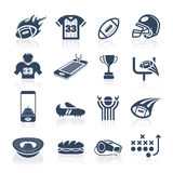 Football Icon Set. Football-related quality set of icons that can be used Royalty Free Stock Photography