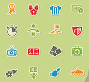 Football icon set Royalty Free Stock Image